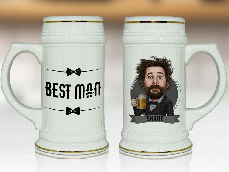 Personalized beer mug best man gift idea