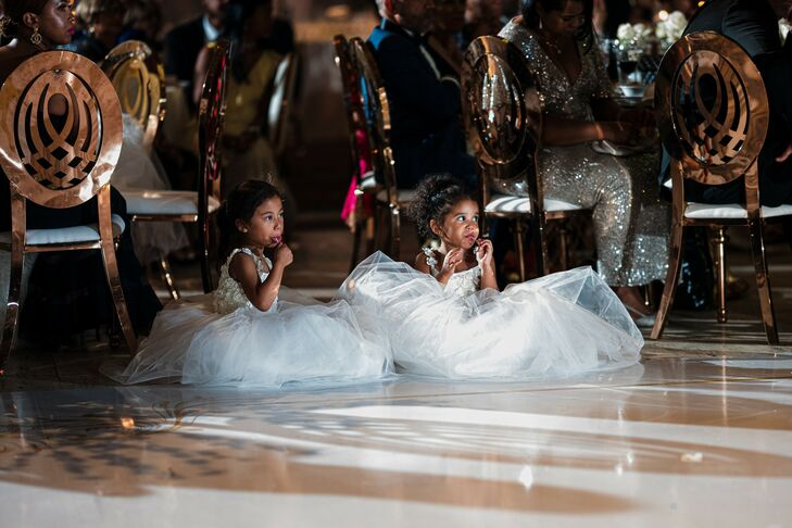 Flower Girls During Reception at Cipriani Wall Street in New York City