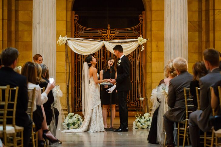 Couple Getting Married at Altar