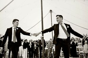 Classic Same-Sex First Dance at Tented Reception