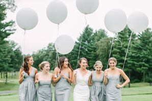 Silver J.Crew Bridesmaid Dresses