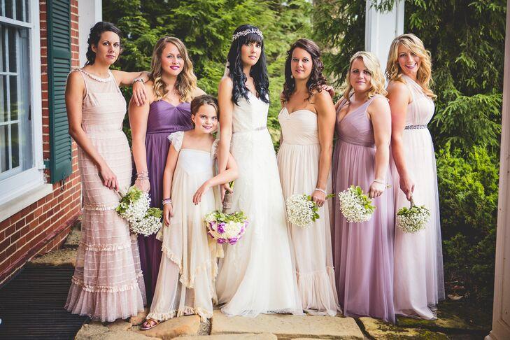 294a66531f62 Blush and Purple Bridesmaid Dresses