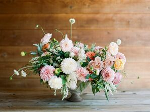 Soft, Lush Arrangements of Chrysanthemums and Roses