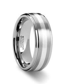Mens Tungsten Wedding Bands W883-RSSB Tungsten Wedding Ring