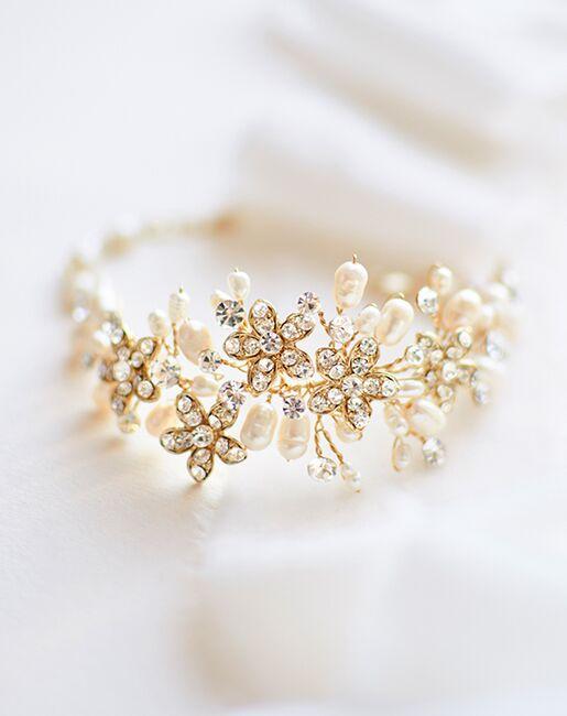 Dareth Colburn Pretty Floral & Freshwater Pearl Bracelet (JB-4819) Wedding Bracelets photo