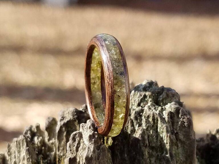 men's peridot engagement ring