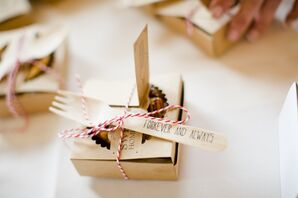 Personalized Pie with Punny Fork Favors
