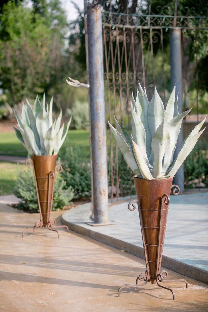 Giant Succulent Ceremony Arrangements