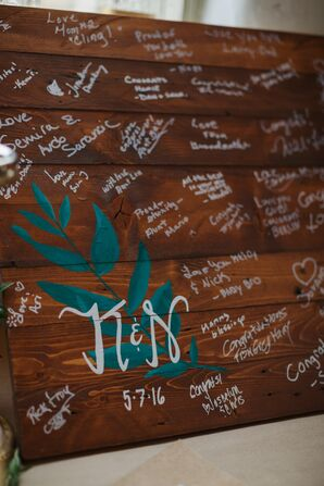 Rustic Wood Guest Book
