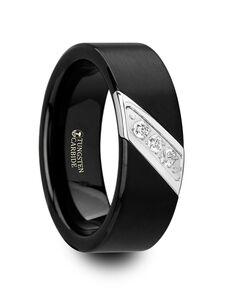 Mens Tungsten Wedding Bands W4284-BTSD Tungsten Wedding Ring