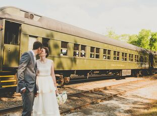 This couple brought elegant charm and rustic details to an industrial factory converted into a venue, making for a romantic wedding in Deep River, Con