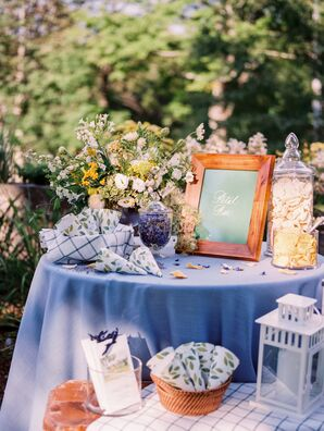 Flower Petal Bar at Ceremony