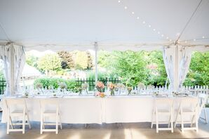 Tented Wedding Reception at Heritage Prairie Farm