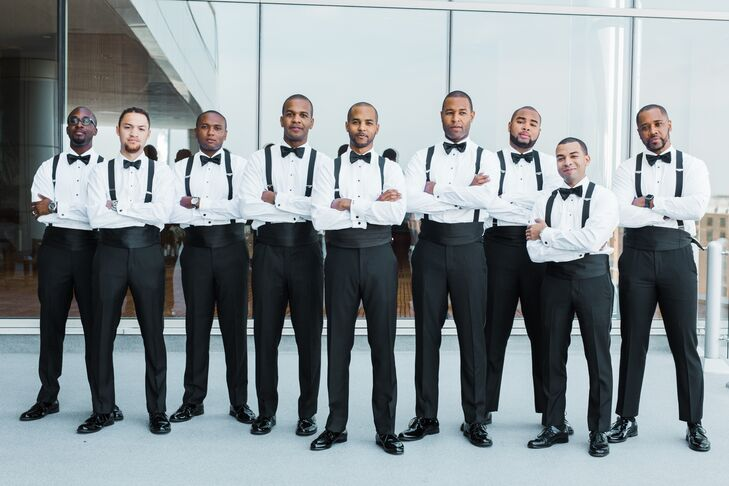 Groomsmen in Black-Tie Attire