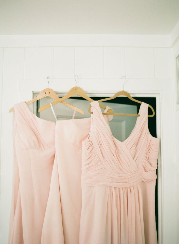 Pale Peach Bridesmaid Dresses