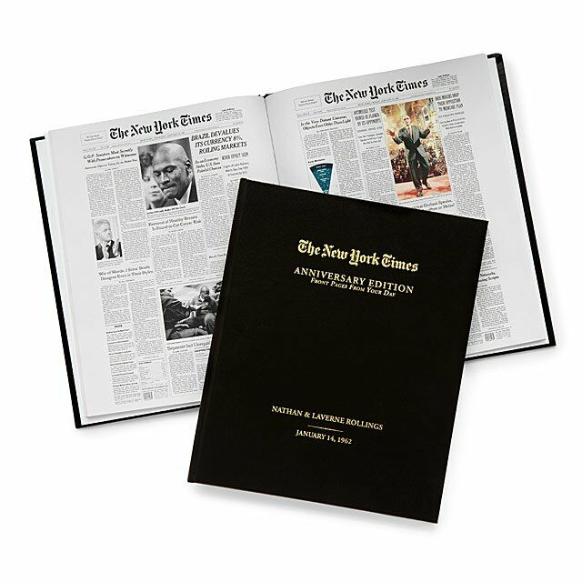 The New York Times personalized anthology 20th anniversary gift