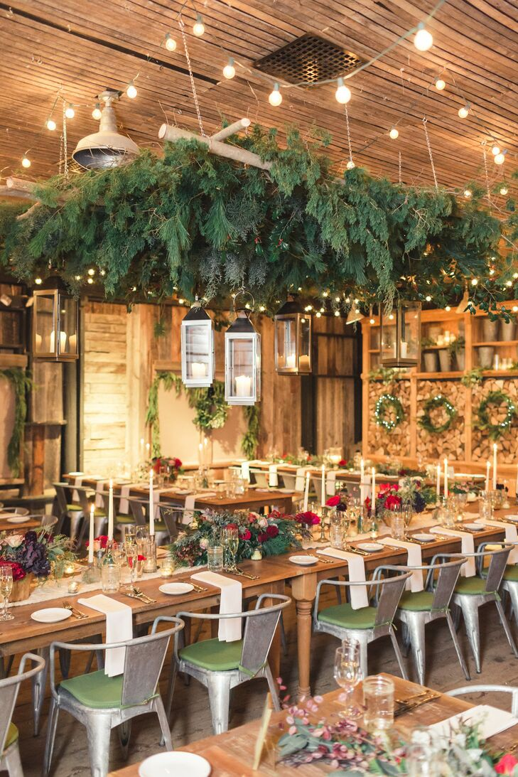 Winter Reception Décor at Terrain at Styers in Glen Mills, Pennsylvania