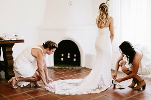 Bohemian-Inspired Wedding Dress