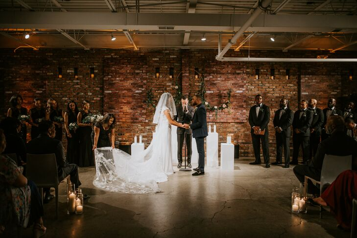 Wedding Ceremony in the Round at The Loading Dock in Stamford, Connecticut