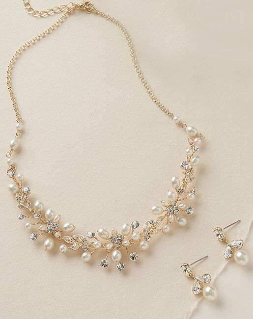 Dareth Colburn Delicate Pearl Jewelry Set (JS-1637) Wedding Necklaces photo