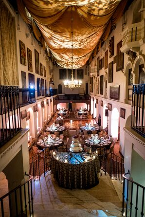 Elegant, Alternative Halloween Wedding Reception
