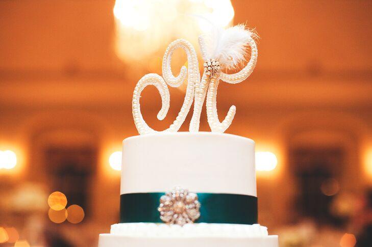 Cursive M Cake Topper