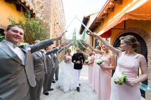Light Saber Accented Wedding Party Arch