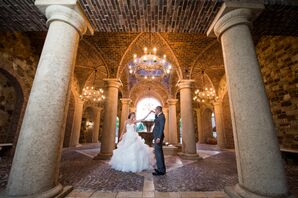 Couple Dancing in Tuscan Inspired Archway