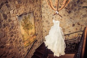 Ivory Allure Ball Gown with Ruffle Detail