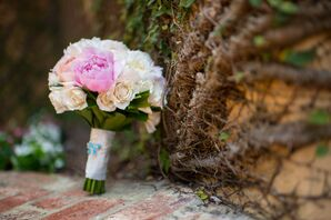 Pink and Peach Accented Rose Bouquet