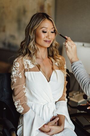 Bride Getting Ready for Wedding at Tehama Golf Club in Carmel-By-The-Sea, California