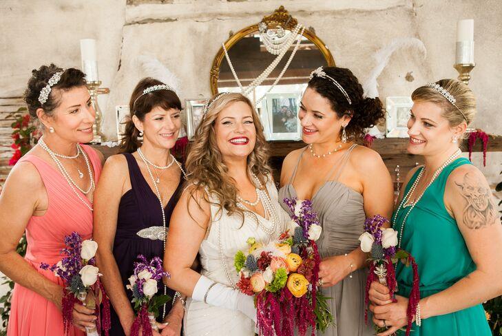 Vintage Flapper Bridesmaid Dresses