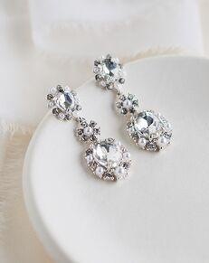 Dareth Colburn Alicia Crystal & Pearl Earrings (JE-4194) Wedding Earring photo