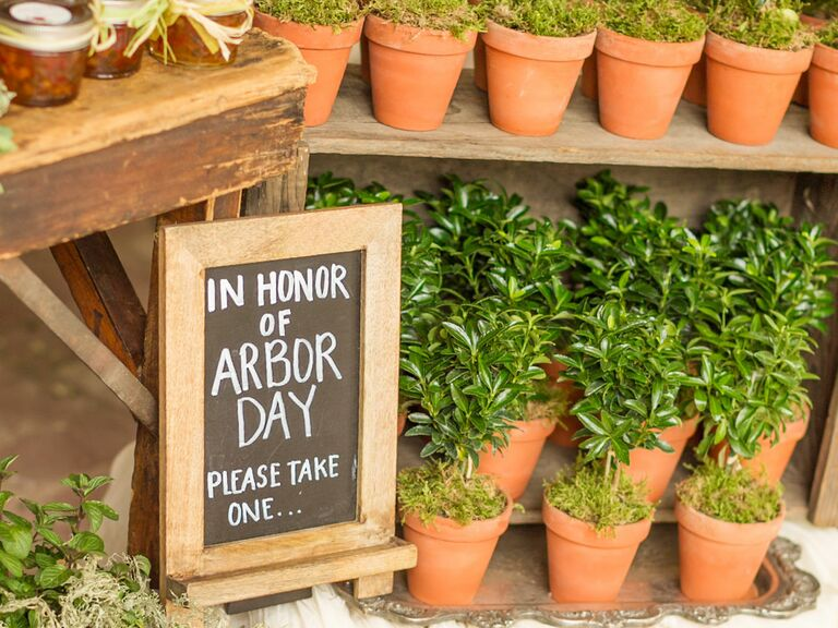 Arbor Day plants Nebraska wedding