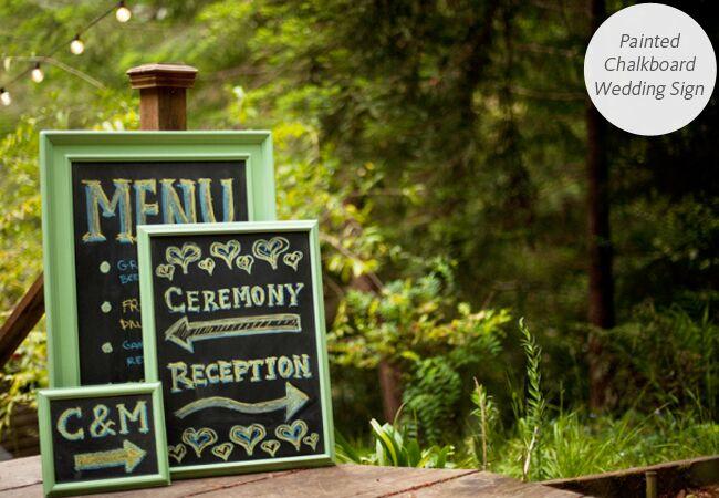 DIY Wedding Signs: Make: / TheKnot.com