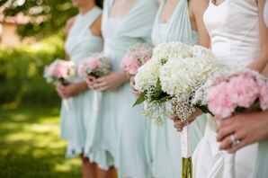 Ivory Hydrangea and Baby's Breath Bouquet