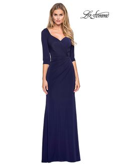 La Femme Evening 26955 Blue Mother Of The Bride Dress