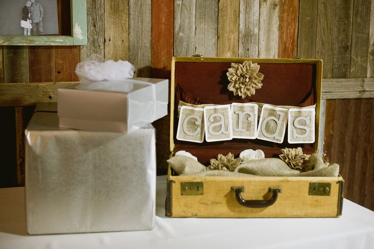 Rustic Vintage Card Case for Gift Table