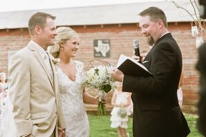 Outdoor Country Ceremony at Cotton Creek Barn