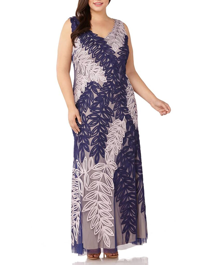 Floral plus size gown for formal wedding