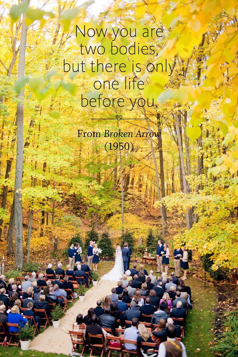 Broken Arrow wedding ceremony reading