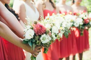 Bouquets with Dahlias and Scabiosa