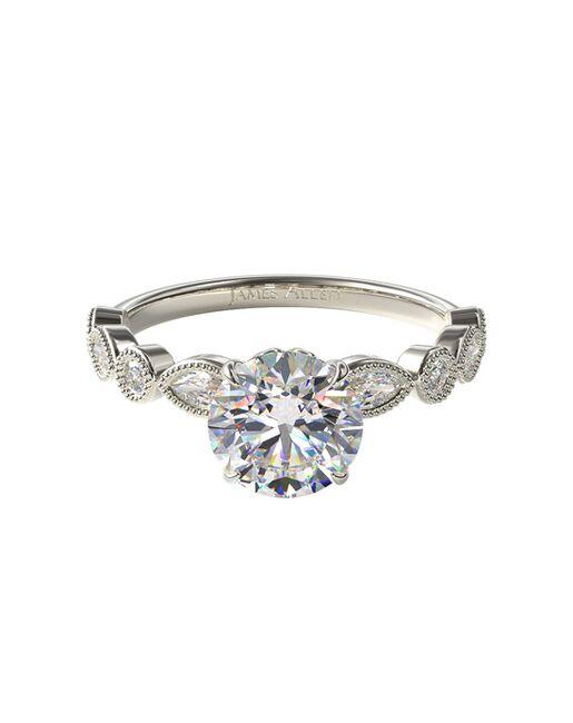 James Allen Elegant Princess, Cushion, Radiant, Round, Oval Cut Engagement Ring