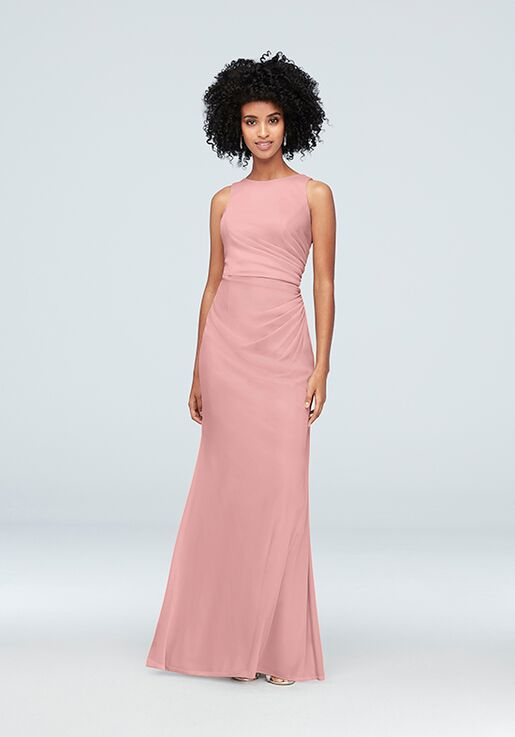 David's Bridal Collection David's Bridal Style F19946 Bateau Bridesmaid Dress