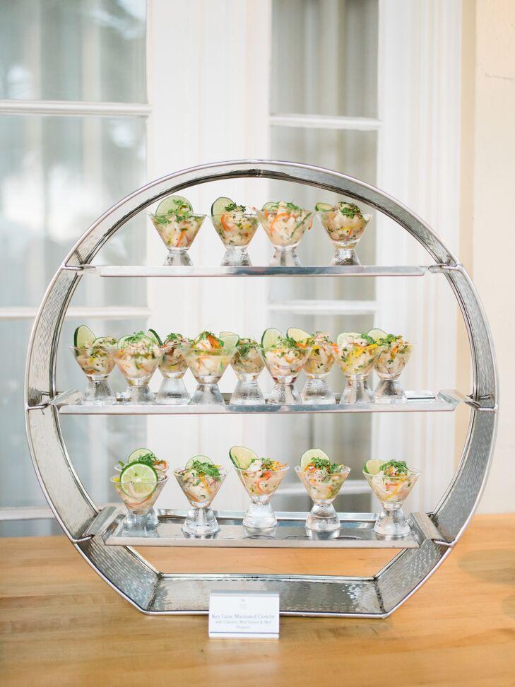 Modern Geometric Ceviche Display