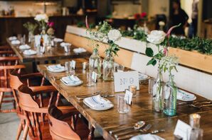 Single-Bud Vases, Wooden Chairs and Bistro Napkins