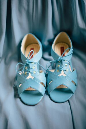 Boho Blue Wedding Shoes