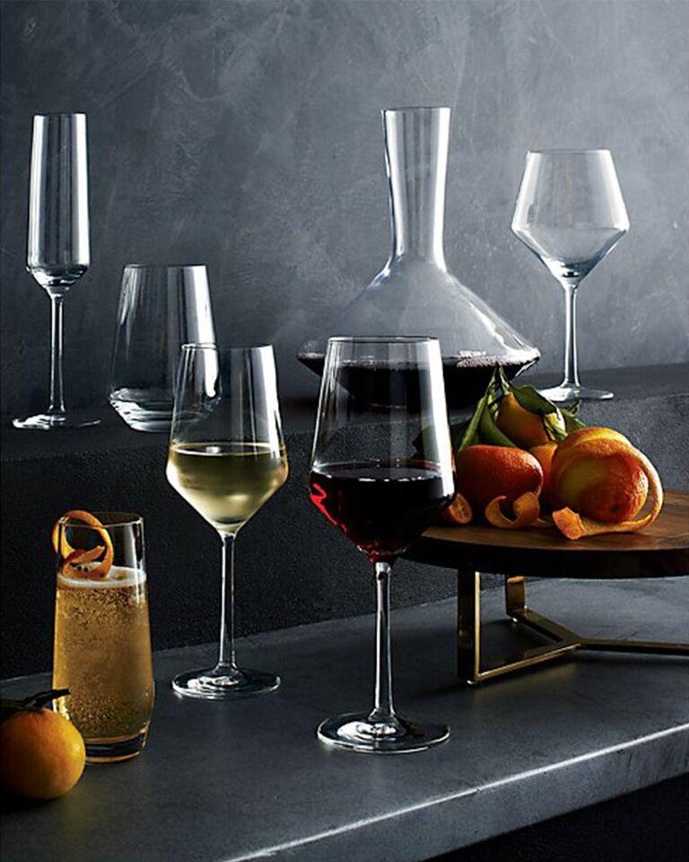 Crate and Barrel wine glasses decanter registry barware