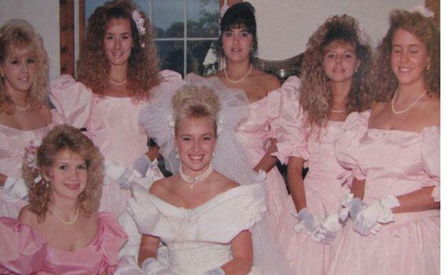 Terrible 80s Bridesmaid Dresses Dress Vs Hair