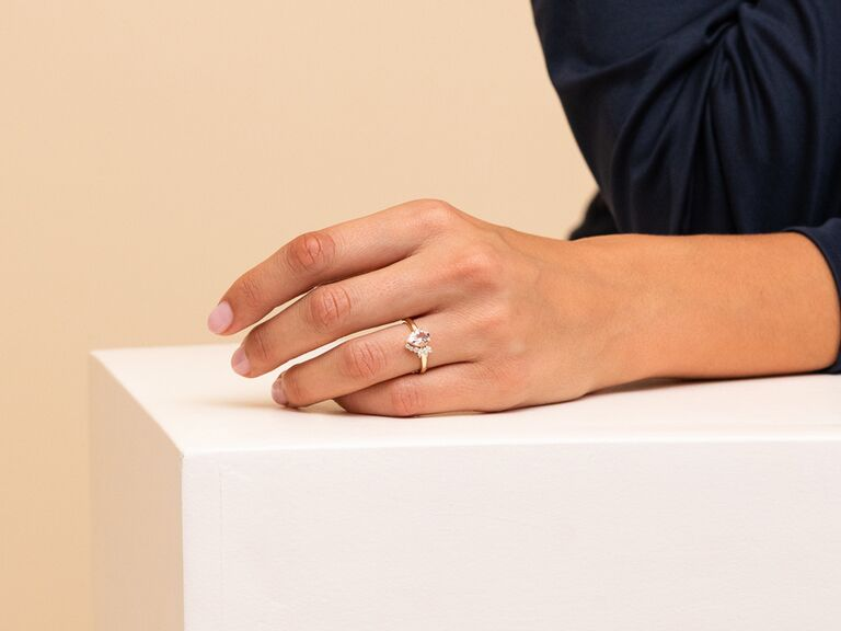 Morganite alternative engagement ring